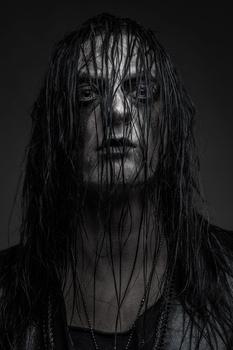 Portrait of a Black Metal singer