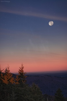 Blueridge Moonset
