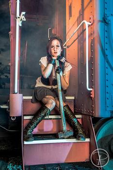 Steam Punk Train shoot