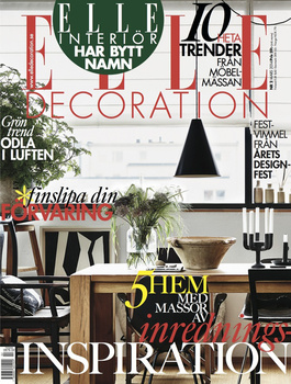 Elle Decoration Sweden Cover