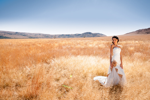 Bride in the bushveld