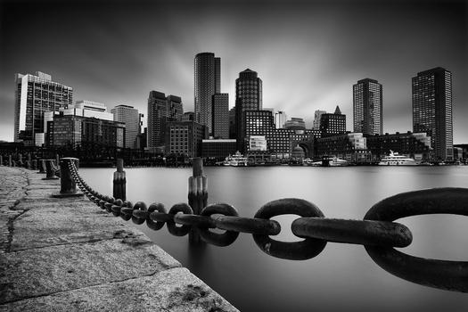 Boston Skyline by Geoffrey Gilson