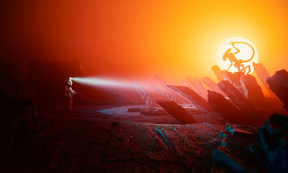 Alien Landscape by Orbital Decline