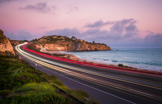Light Trails in Crystal Cove National Park by Tj LeClair