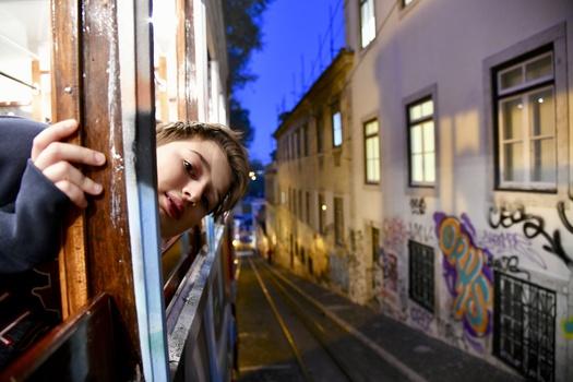 Evening stroll through Lisbon by Nenad Uzelac