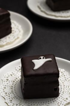 Chocolate cake by Skyler Ewing