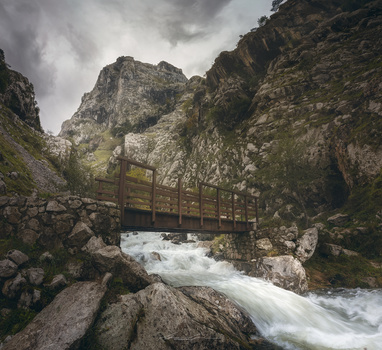 Bridge over troubled waters by Manu García