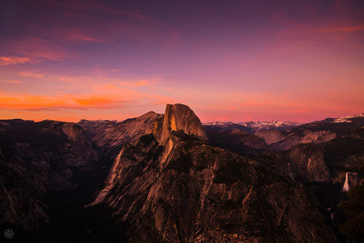 Sunset: Half Dome and the High Sierra
