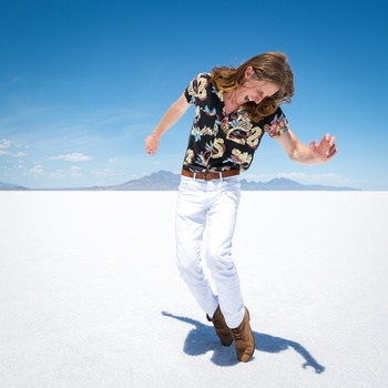 Scott Vance of The New Electric Sound in Utah's Salt Flats 2