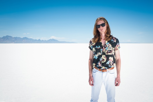 Scott Vance of The New Electric Sound in Utah's Salt Flats 5