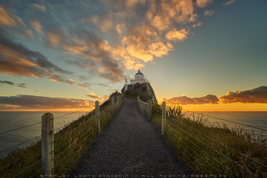 Nugget Point Lighthouse by Stanley Loong
