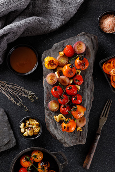 Grilled Tomatoes by Abhishek Khanna