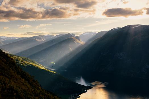 Norwegian paraglider