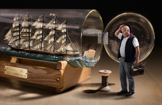 How to build a ship in a bottle
