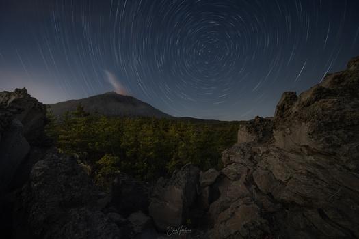 Volcano mountain by Sho Hoshino