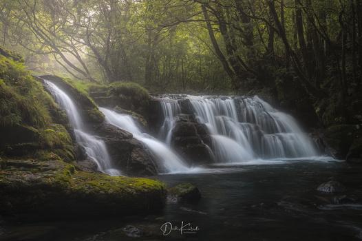 Waterfall Morning Grow by Daiki Kuroda