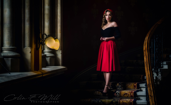 The Red Skirt by Colin Mill