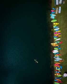 Kayak Aerial by Michael Einreinhof