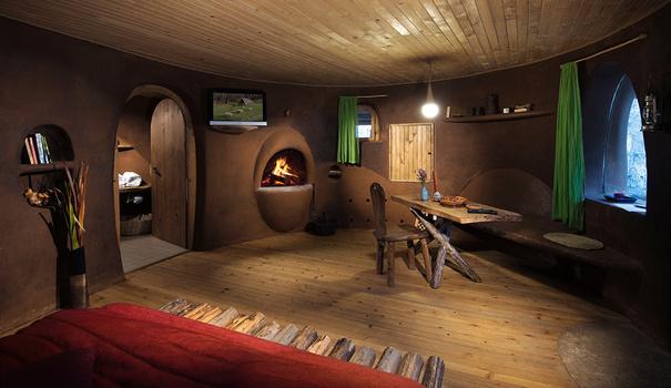 Clay house interior