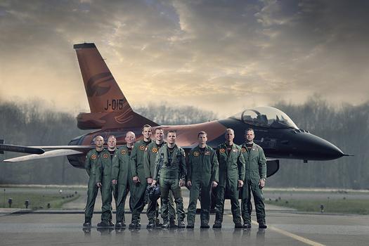 RNAF F-16 demo team