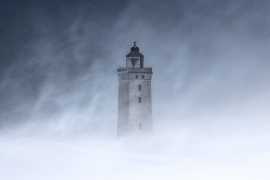 Winter Storm Lighthouse by Mads Peter Iversen