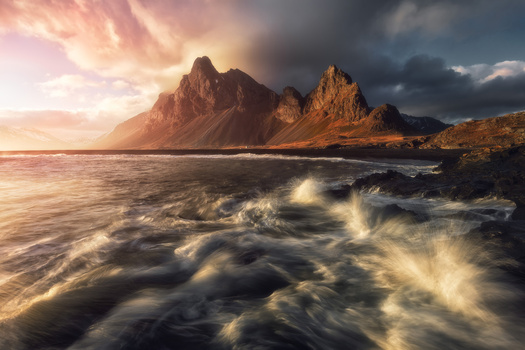 Dramatic Eystrahorn sunset by Mads Peter Iversen