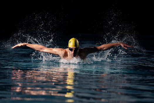Swimmer Butterfly Style