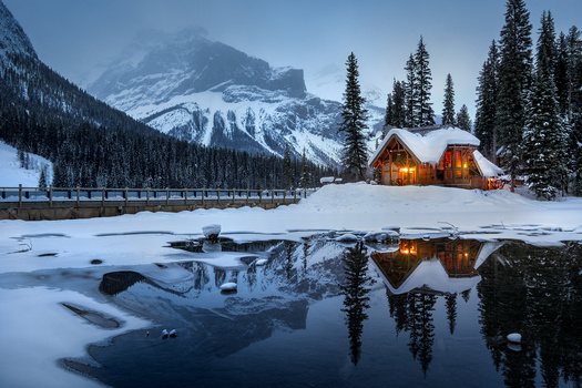 Winter in the Rockies by Anthony Robin