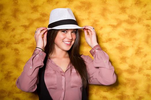 Lauren Tips Her Hat