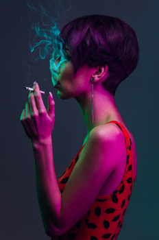 smoke+colored gels= LOVE