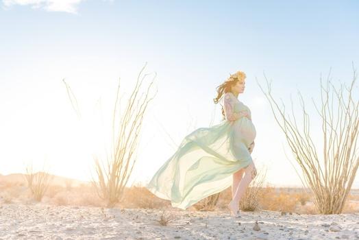 Desert Maternity Session