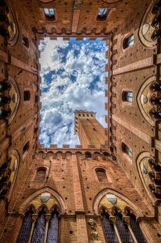Palazzo Publico in Siena by Jan de wild