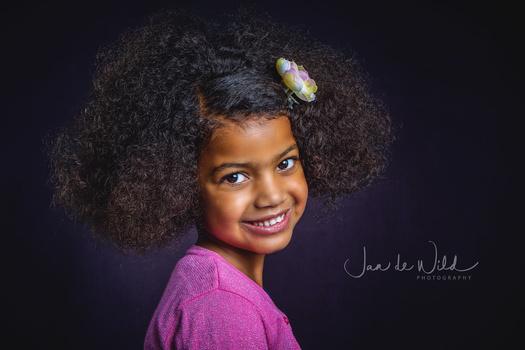 Cute curly girl by Jan de wild