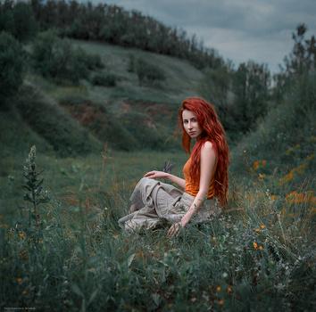 In the fields