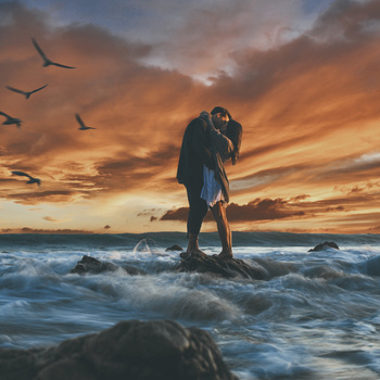 Couple at El Matador by Steven Lipson