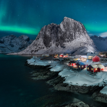 The Northern Lights in Lofoten, Norway by Neil Tapman