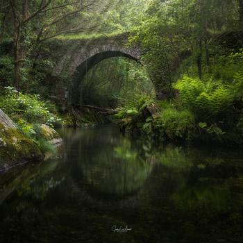 The roman bridge by Jose Luis Llano