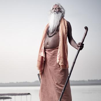 Aghori Sadhu Baba. Varanasi, India.  by Phuket Photographer