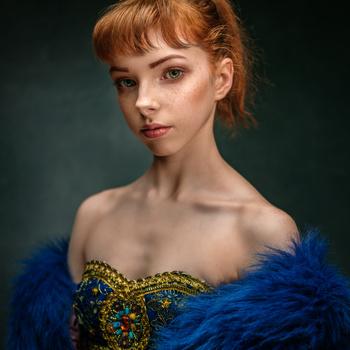 A portrait of a young dancer by Saulius Kerikas