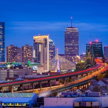 Boston Blue Hour by John Sabino