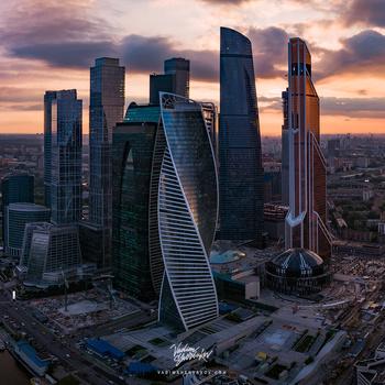 Moscow City panorama II by Vadim Sherbakov