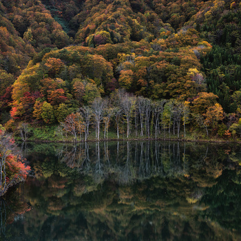 Mysterious lake by Shumon Saito