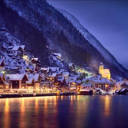 Winter night in Hallstatt
