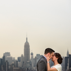 Bride and Groom NYC Skyline