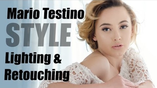 Mario Testino Style Lighting Technique & Retouching Tips using StyleMyPic Pro Workflow Panel
