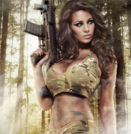 Calendars military bikinis hot models