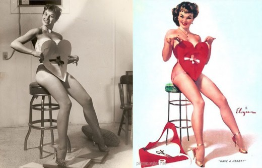 1950s Photoshop Pin Up Girls Before And After