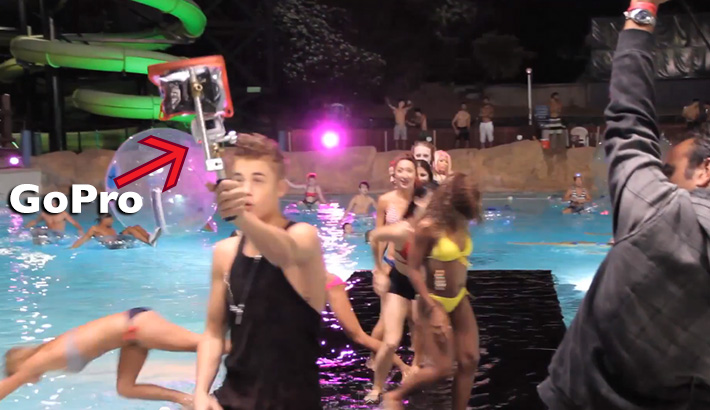 Justin Bieber BTS GoPro