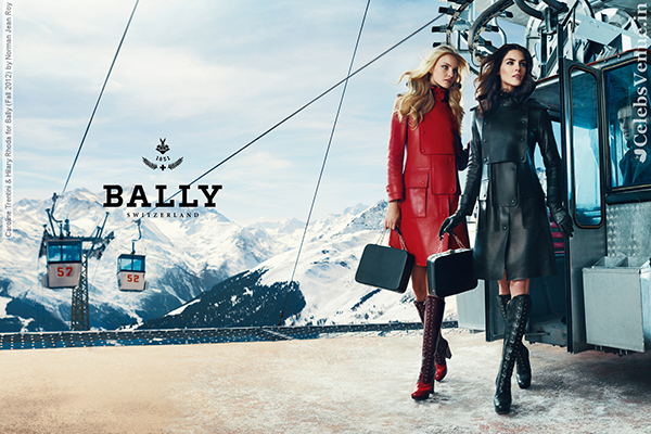 Caroline Trentini & Hilary Rhoda for Bally (Fall 2012) by Norman