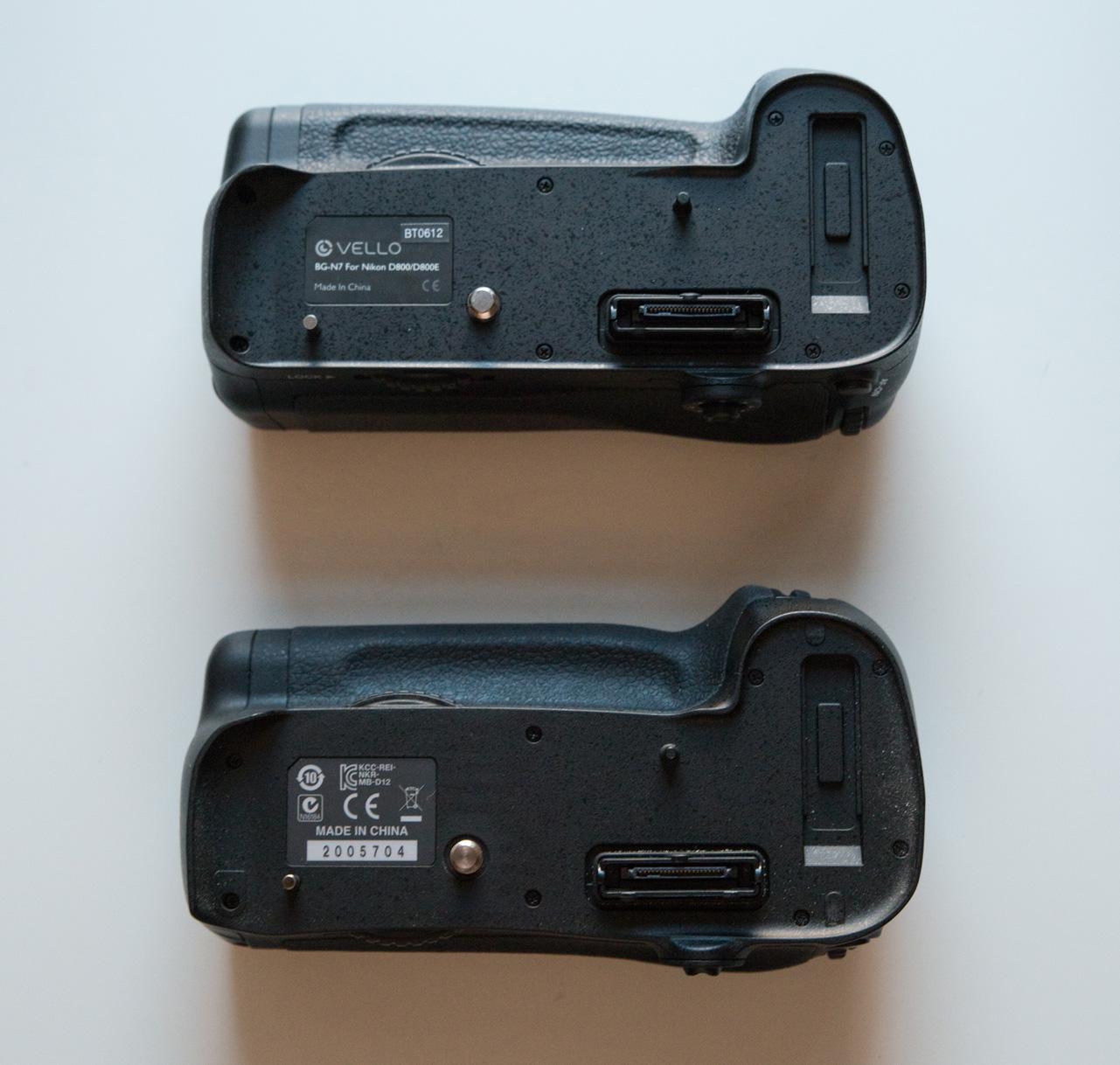 Nikon MB-D12 vs Vello BG-N7 grip review